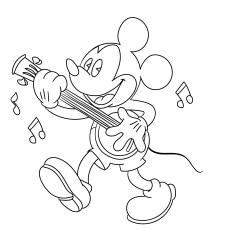 Mickey Playing Music