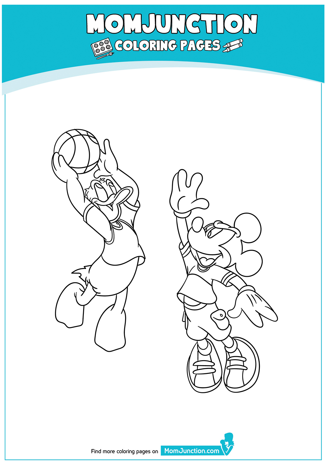 Mickey-and-Donald-Duck-Playing-Basket-Ball-17