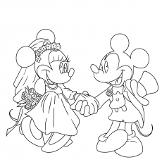 Nice Mickey And Minnie On Wedding Day