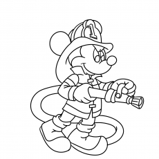 Mickey as Firefighter