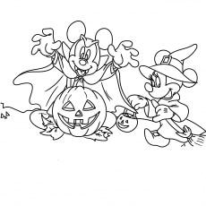 Mickey on Halloween Day