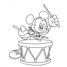 Mickey with Drums
