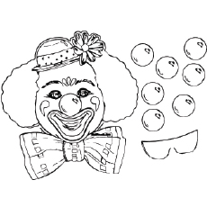 Birthday Party mask Coloring Pages