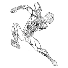 coloring pictures of black spiderman