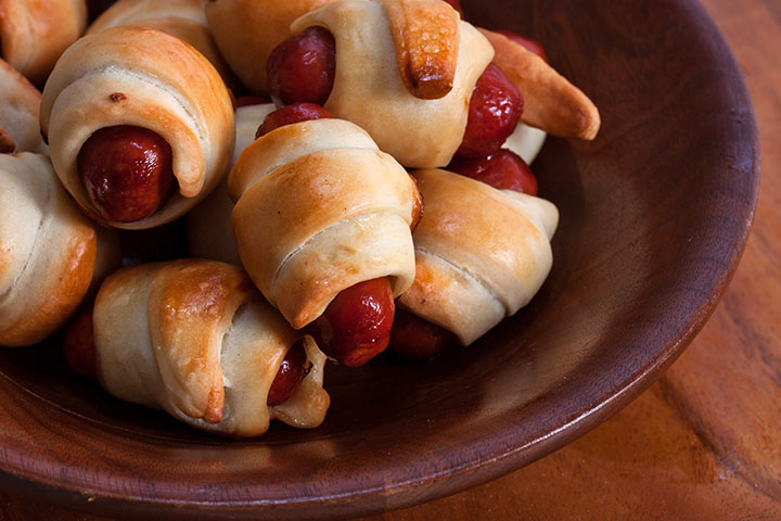 Pigs-In-A-Blanket - Quick Easy Finger Food Ideas Pictures