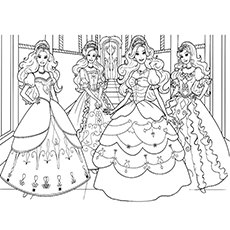 Princess Barbie And The Three Musketeers Picture to Color