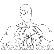 Spiderman Scarlet Print to Color