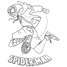 Spiderman into Spider Verse Printable to Color