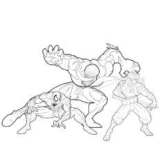 Spiderman vs Venom Coloring Pages