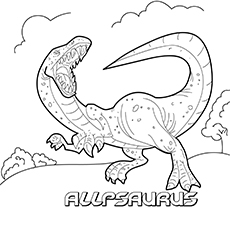 The Allosaurus coloring pages