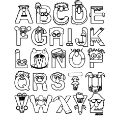 Alphabet Mnemonics Coloring Pages