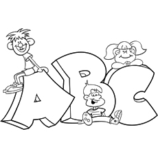 ABC Alphabet Parade Coloring Pages