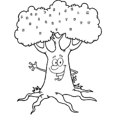 Alphabet Tree Coloring Sheet