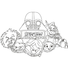 Angry Birds Go Bomb Coloring Pages The Star Wars