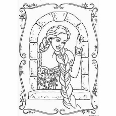 barbie as rapunzel - Tangled Coloring Pages Girls