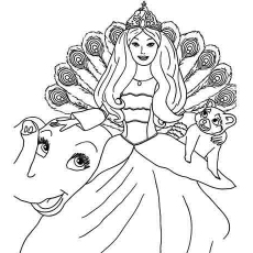 barbie as the island princess coloring sheets for kids - Printable Barbie Coloring Pages