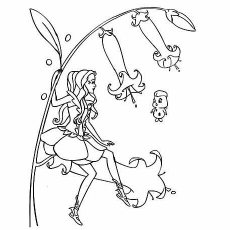 Barbie Fairy Topia Coloring Pages to Print Free