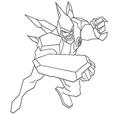 coloring pages of smiling ben 10 ben in his avatars color to print - Ben Ten Coloring Pages