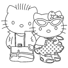 Hello Kitty Best Friends Forever Coloring Pages