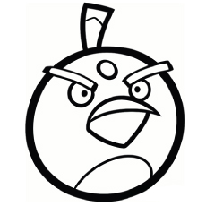 cool Pink Girl Angry Bird Coloring Page | Bird coloring pages ... | 230x230