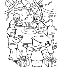 fun during birthday party coloring page - Birthday Coloring Sheets