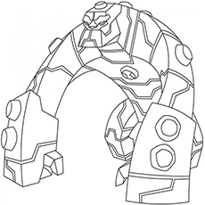Bloxx from Ben 10 Omniverse Coloring Pages