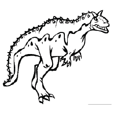 Free Printable Carnotaurus On Walking Coloring Pages