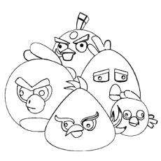 Cute 3 D Images Of Angry Bird Coloring Pages