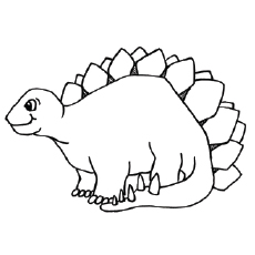 Coloring Pages of Dinosaur With Spikes