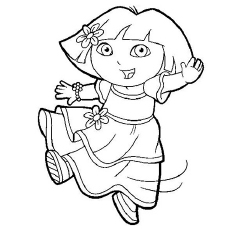 Dora As Ballet Dancer Coloring Pages