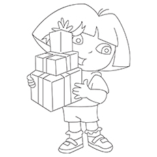 The-Dora-Carries-Gifts coloeing images