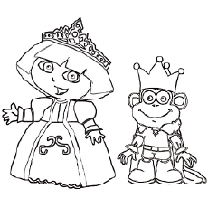 The Dora The Queen Coloring Pages