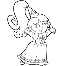 The Dora As A Fairy Princess Coloring Pages