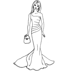 fashionable barbie coloring sheets - Printable Barbie Coloring Pages