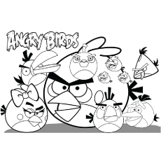 Angry Birds Friends Together Coloring Pages