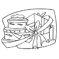 Coloring Pages of Birthday Gifts Galore