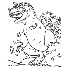 horned dinosaur lystrosaurus coloring pages