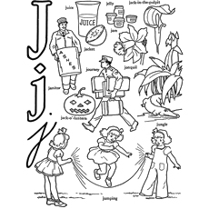 J Alphabet Coloring Pages