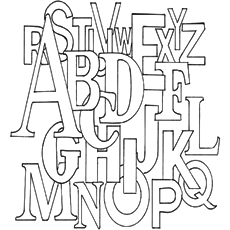 Jumbled Alphabet Coloring Pages