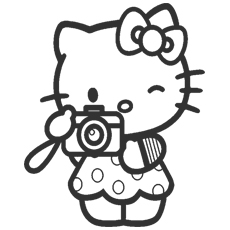 Kitty Loves Photography Coloring Pages