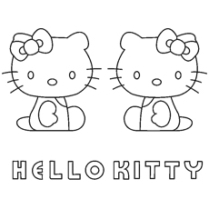 Kitty White And Mimmy Coloring Pages