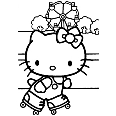 kitty at school hello kitty becomes the artist coloring pages - Kitty Printable Color Pages