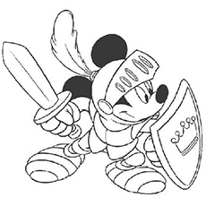 Mickey Will Save The Day Coloring Pages