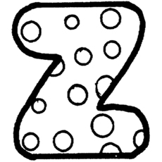 Dotted Alphabet Z Coloring Pages