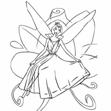 Purple Barbie Fashion Fairy Coloring Pages
