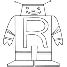 R For Robot Coloring Pages