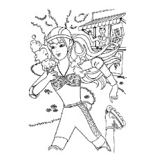 Barbie Practicing Skating Coloring Pages