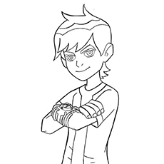 coloring pages of smiling ben 10 - Ben Ten Coloring Pages