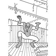 Spiderman strength coloring pages