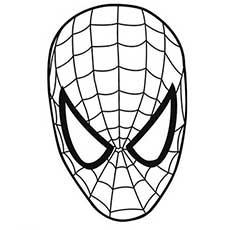spiderman mask coloring pages for kids